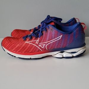 Mizuno Wave Red Blue White Peachtree Tennis Shoes